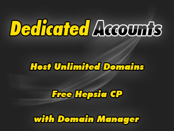 Half-price dedicated web hosting account